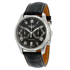 Longines Master Automatic Black Dial Brown Leather Mens Watch L26294517