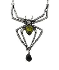 Alchemy of England Emerald Venom Spider Necklace With Swarovski Crystals