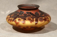"GALLE 9"" by 4.25 H ACID CUT BACK GALLE SALE VASE NICELY ETCHED DECOR & PONTIL"