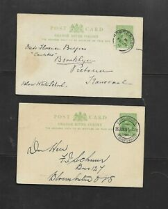 ORANGE RIVER COLONY 1912 & 1914 POSTAL CARDS