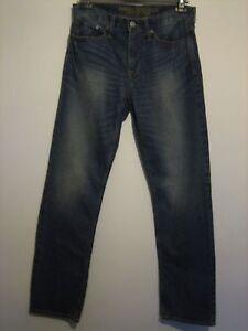 B45 ) MENS AMERICAN EAGLE OUTFITTERS BLUE STRAIGHT LEG JEANS WAIST 32 LEG 34