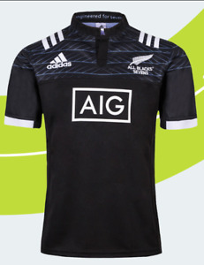 READY STOCK NEW ZEALAND ALL BLACKS SEVEN RUGBY JERSEY Size XL