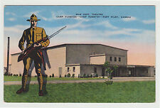 Linen War Dept Theatre, Camp Funston Camp Forsyth Fort Riley KS 1940s Kansas