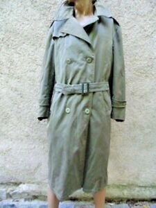 ARMEE FRANCAISE GUERRE INDOCHINE :  IMPERMEABLE OFFICIER / VINTAGE / TRENCH