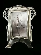 ATTRACTIVE, ART NOUVEAU ,JUGENDSTIL, SECESSIONIST PEWTER PHOTO FRAME