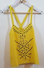 Urban Outfiters Lucca Couture Yellow Studded Embellished Tank Top-Sz Sm-NWT!!!