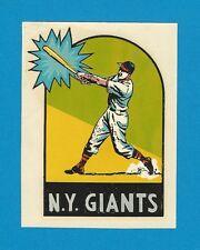 "VINTAGE ORIGINAL 1954 SOUVENIR ""NEW YORK GIANTS"" POLO GROUNDS NEW YORK DECAL ART"