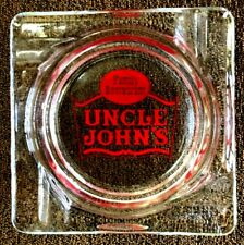 Ashtray Advertising Uncle John'S Family Restaurant Glass Tobacciana Vintage! b19