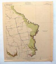 1919 Cedar Bayou Texas Antique USGS Topo Map Baytown Houston Topographic