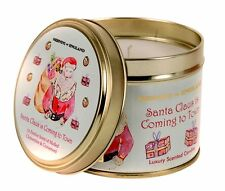 Santa Claus Large Roomscenter Candle in Tin