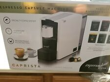 caprista espresso capsule machine white