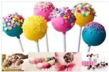 SILICONE CAKE POP MOULDS + 20 STICKS - NON STICK - FUN & EASY TO MAKE - KLEENEZE