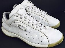 OAKLEY Men's Athletic Sport Running Tennis Shoes Sneakers Size 13 White Leather