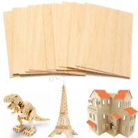Legno di Balsa 10pcs fogli piatto di legno 150 * 100 * 2 mm per modello di