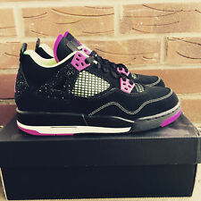 Nike Air Jordan 4 Black Purple Volt '30th Anniversary' UK Youth Size 5