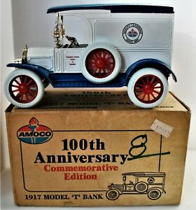Vintage IOB 1989 Ertl 1917 Ford Model T Collector's Bank w Key Limited Edition