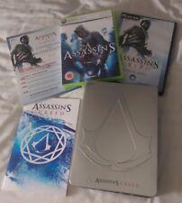 Assassin's Creed-edición limitada de Reino Unido XBOX 360 Rara Caja De Metal/Steelbook Plus