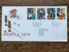 Gb Fdc 1989 Games And Toys, Bureau Pmk