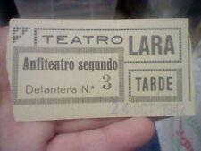 DON JUAN TENORIO TEATRO LARA ENTRADA ORIGINAL VICENTE SOLER CARMEN OLIVER 1942