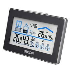 Wireless Indoor Outdoor Digital Weather Station Clock LCD White Backlight T0I2