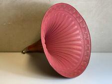 großer schöner 57cm Grammofon Trichter Trichterlautsprecher Phonograph rot