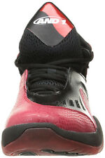 AND 1 Men's Alpha Basketball Shoes Red and Black size 11 New in Box