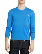 Burberry 'Barton' Blue Cotton Crewneck Sweater M Medium NWT $295 Great Gift