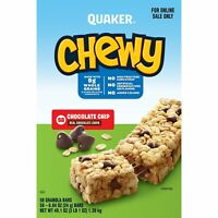 Quaker Chewy Granola Bars, Chocolate Chip, 58 Bars