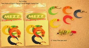 Fly Fishing Quick Change Small Wiggle Tailed Flies  (Two Packs)