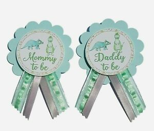 Baby Shower Pin for Mommy or Daddy to Be Dinosaur Gender Reveal Grandma