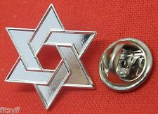 Star of David Lapel Pin Badge Jewish Magen Judaism Māḡēn Dāwīḏ Hexagram Shield
