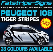 PEUGEOT 108 GRAPHICS TIGER STRIPES DECALS STICKERS GT PUG ACCESS ACTIVE ALLURE