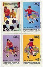 Chile 1987 #1239-42 Campeonato Mundial de Futbol Juvenil Soccer MNH