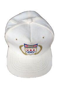 1988 USA Olympics White Hat EUC Clutch Adjustable Vintage Rare Drew Pearson