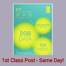 EE sim card - £10 Bundle - (Standard/Micro/Nano) Official - 1st Class Post! 20p