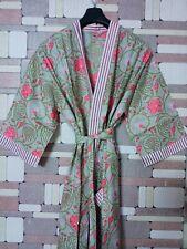 Indian Long Kimono Maxi Dress Women Hippie Dress Sleepwear Night Gown Maxi Robe