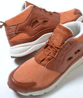 SALE. Reebok Mens Furylite Chukka Leather Trainers Ginger/Paper White RRP 94.99