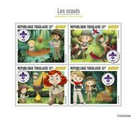 Togo Scouting Stamps 2020 MNH Girl Boy Scouts 4v M/S