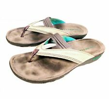 b512423f4711 MERRELL Mimosa Anise Drizzle Gray Teal Blue Slide Thong Sandals Shoes  Womens 10