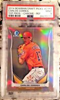 2014 Bowman Chrome Draft Carlos Correa Rookie RC REFRACTOR PSA 9!