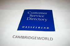 Hasselblad Customer Service Directory