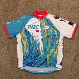 New Balance Mens 3XL Full Zip Short Sleeve Cycling Shirt