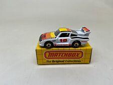 MATCHBOX-#55 SUPER PORSCHE RACER-YELLOW BOX--LOOK----WHITE-GOLD WHEELS-