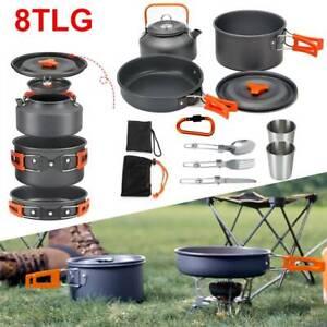 Kochset Campinggeschirr Topf Set Outdoor Camping Kochen Braten Geschirr
