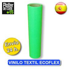 Vinilo textil VERDE FLUOR ecoflex no adhesivado ZAPATILLAS CAMISETAS SUDADERAS