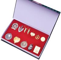 12PCS JoJo's Bizarre Adventure Higashikata Josuke Necklace Cosplay Pendant + Box