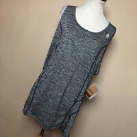 New Reebok 1X Dynamic Tank Top Shirt Gray Slim Sleeveless Lightweight Womens H6