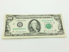 Old Paper Money 1990 One Hundred $100 Dollar Bill Federal Reserve Note New York