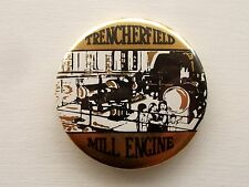 VINTAGE TRENCHERFIELD STEAM MILL ENGINE WIGAN MANCHESTER MUSEUM PIN BADGE