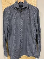Hugo Boss Black And Grey Printed Shirt Size M